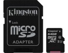 microSDXC Card 64GB Kingston, inkl. SD Adap