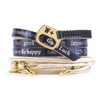 We Positive Armband Nice - blu/oro