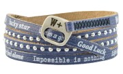 We Positive Armband Holiday - BLUE JEANS