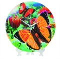 "Crystal Art ""Beautiful Butterflies"" Clock Kit 30 cm"