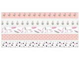 URSUS Washi Tape Tropic Silber Rosa