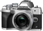 Olympus OM-D E-M10 Mark IV Pancake Kit (14-42mm, 20Mpx, Micro Four Thirds), silber
