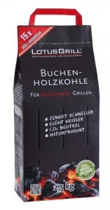 Lotusgrill Holzkohle Buche 2.5 kg