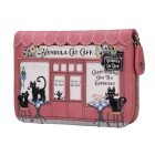 "Vendula London Small Zip-Around Wallet ""Cat Café"""