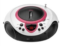 LENCO SCD-38 CD-Player, pink, FM-Radio