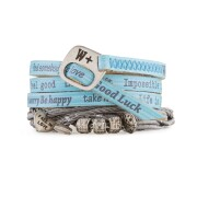 We Positive Armband Nice - Trendy Azzurro - Light Blue