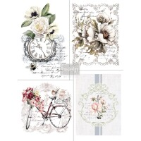 Vintage Paint  Redesign Decor Transferfolie - bike rides