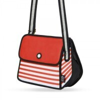 JumpFromPaper Stripe Shoulder Bag - rot