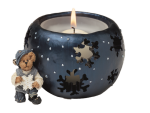 Boyds Bearstone - Elvin T Elfbeary Christmas Candle