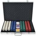 Poker Set mit 1.000 Chips Aluminium