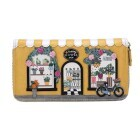 "Vendula London Large Zip-Around Wallet ""Flower Shop"""