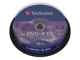 Verbatim DVD+R 8x Double Layer 8.5GB, 10-Pk
