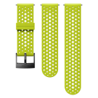 Suunto 24mm Athletic 1 Silicone Strap, Lime Black, Grösse S+M