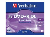 Verbatim - 5 x DVD+R DL - 8.5 GB
