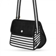 JumpFromPaper Stripe Shoulder Bag - schwarz