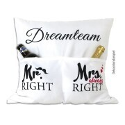 Dreamteam-Kissen - Mr. Right und Mrs always Right