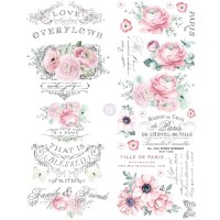 Vintage Paint  Redesign Decor Transferfolie - overflowing love
